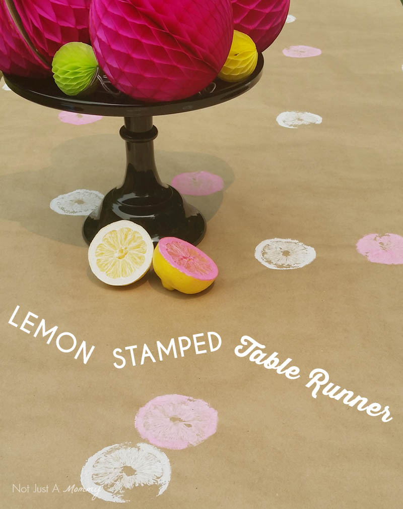 Lemon stamped table rubber