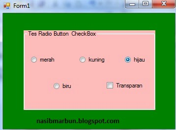 RadioButton dan CheckBox VB.Net 2008