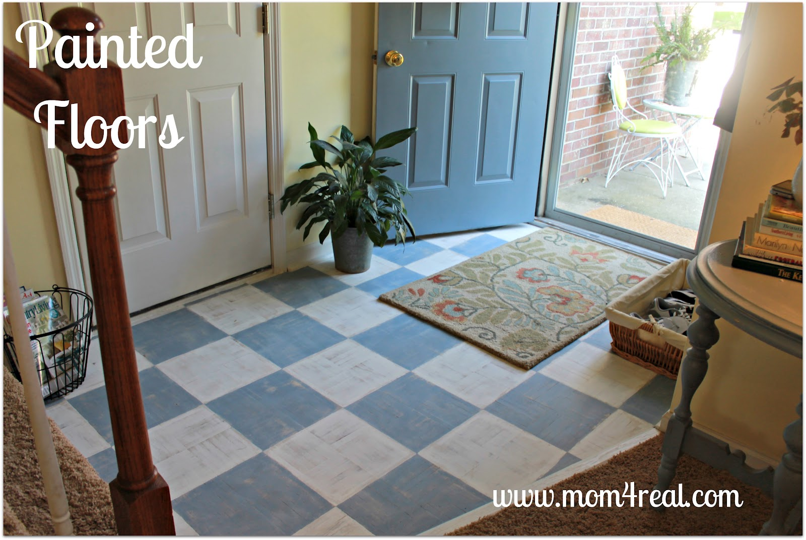 painted wood floors mom 4 real - Paint For Wooden Floor