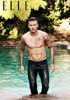 David Beckham Topless di Sampul Majalah