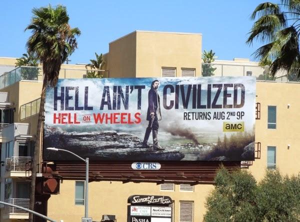 Hell on Wheels season 4 billboard