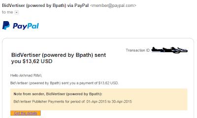 Bukti pembayaran bidvertiser.com 2015