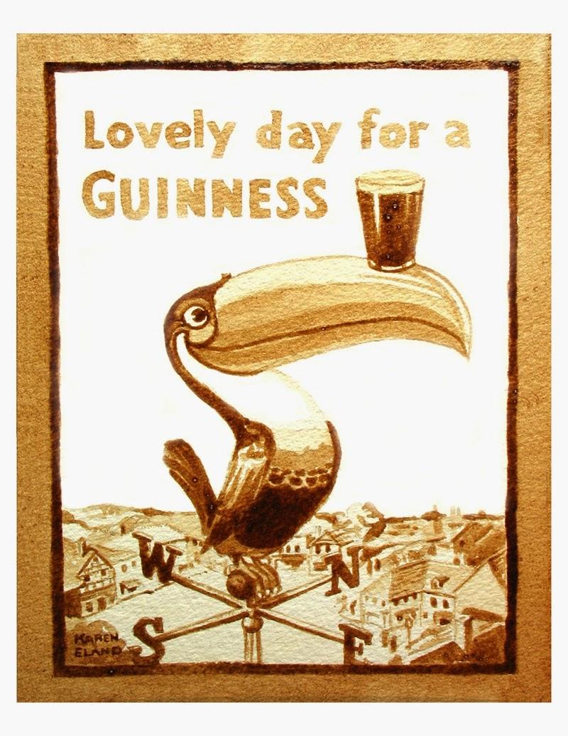 08-Guinness-Toucan-Karen Eland-Vintage-Looking-Beer-and-Water-Paintings-www-designstack-co