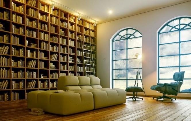 Contoh Desain Ruang Baca Rumah Mewah