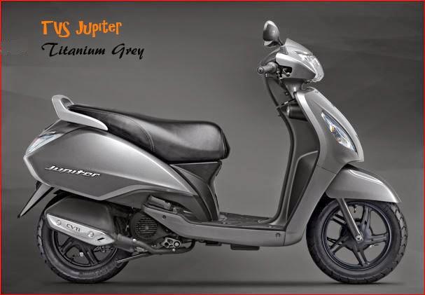 TVS Jupiter Titanium Grey colour