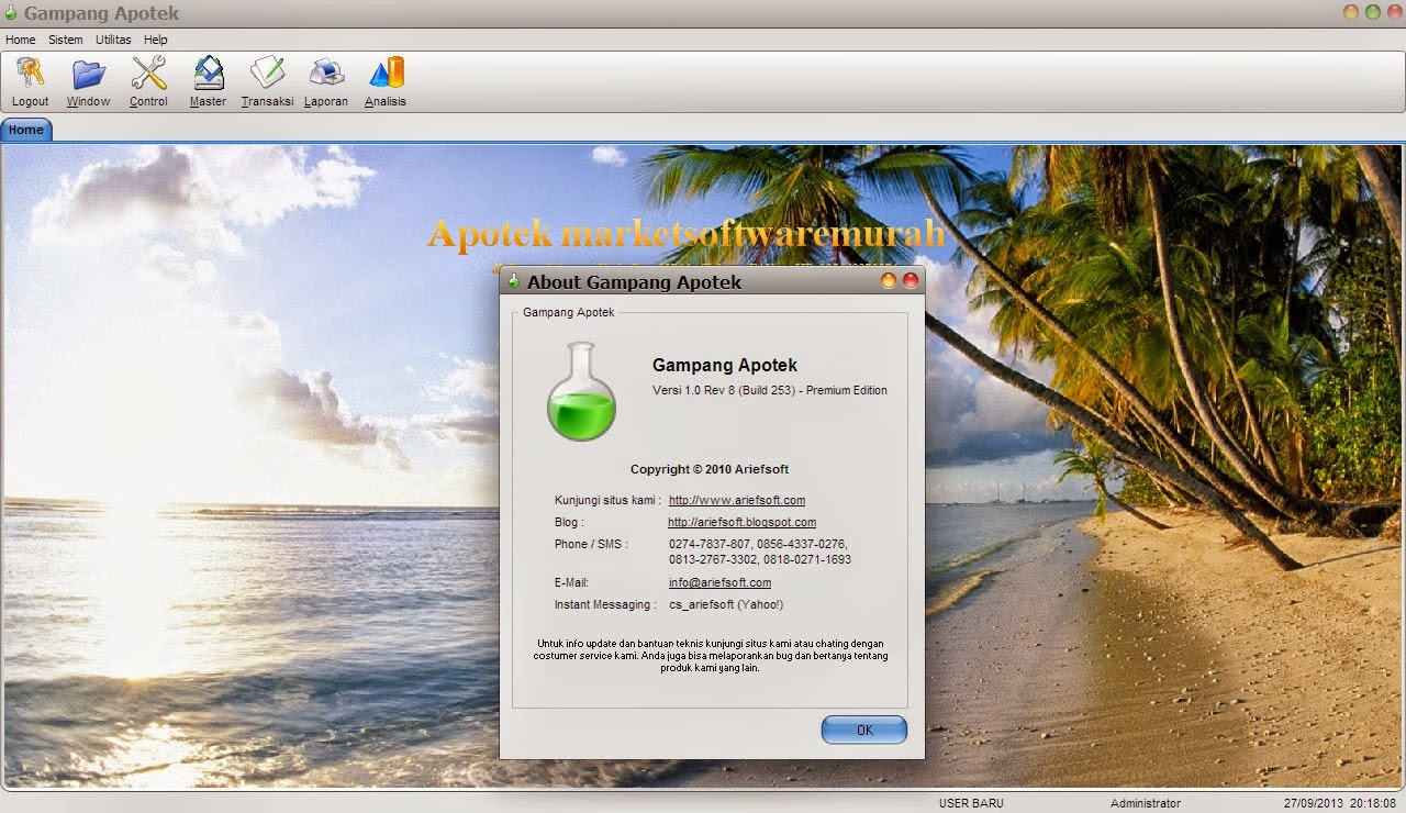 Pasar Software Murah 2014 Otomax 314 Full Version Unlimited Aktifasi Aplikasi Server Pulsa Terlengkap Ter Termudah Ariefsoft Apotek Yang Sebelumnya Bernama Gampang Adalah Sebuah Penjualan Di Dalamnya Memiliki Modul Kasir