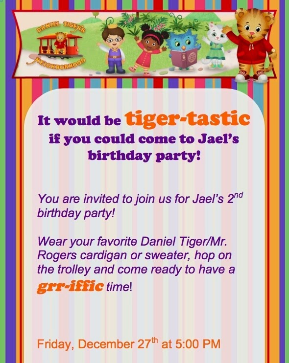 Life With Crazy Rachel Daniel Tiger Birthday Party