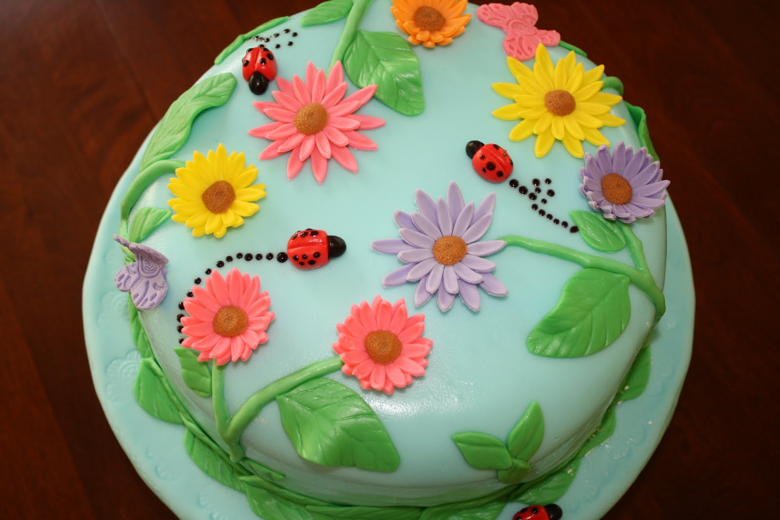 Fondant Cake Design For Husband : CC s Cake Decorating: Mine & my husbands birthday cake!!
