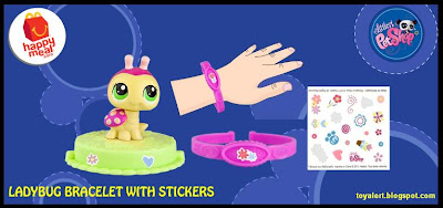 McDonalds Littlest Pet Shop happy meal toys  - US release - Ladybug Bracelet