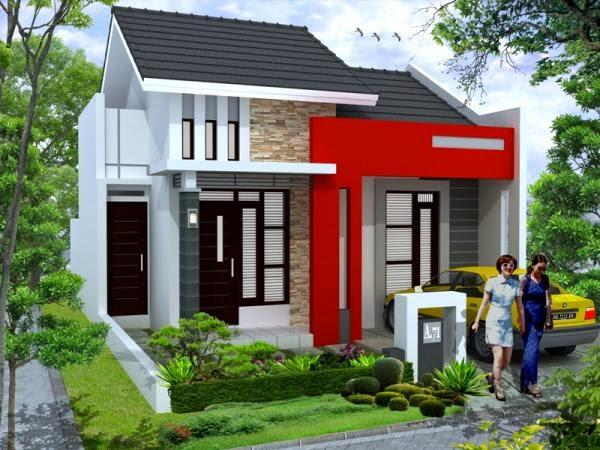 Desain Cat Rumah Minimalis 2014 merah