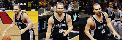 Tony Parker Realistic 2K Face and Beard