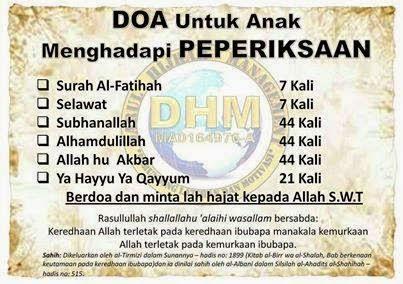 Doa Peperiksaan Untuk Elak Lupa
