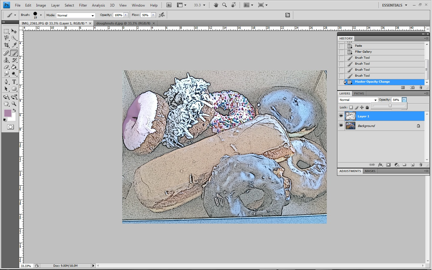 how to make something invisible in photoshop