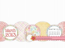 march 2013 desktop calendar sample