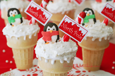 North Pole Dirt Cake Cones @www.thesweetchick.com