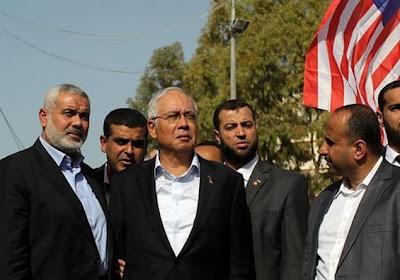 Gambar Dan Video PM Malaysia, Najib Melawat Gaza