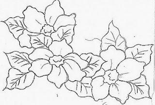 tres flores para pintar