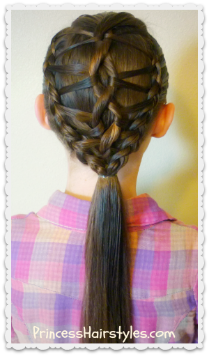 DNA braid ponytail hairstyle tutorial