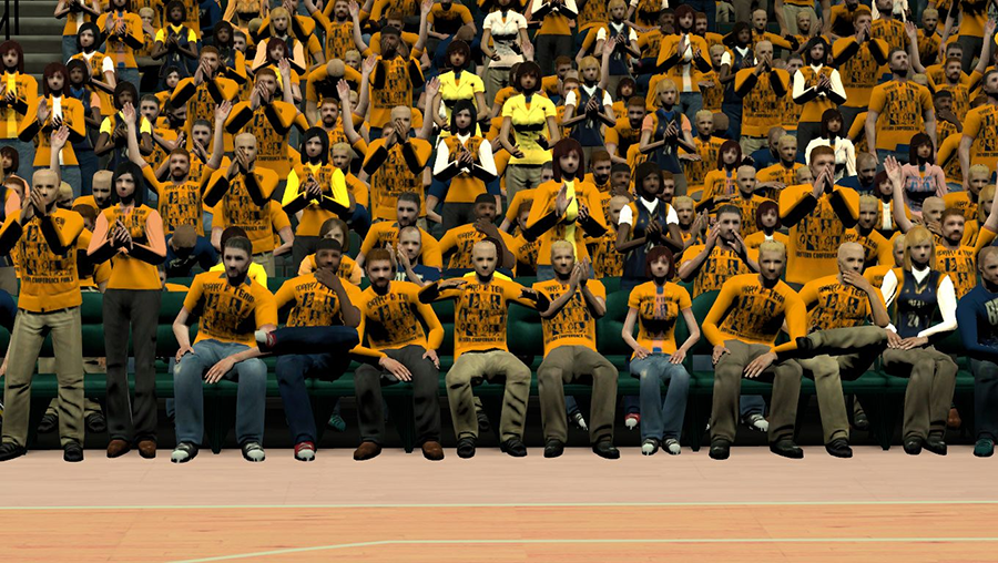 NBA 2K14 Indiana Pacers Playoffs Crowd