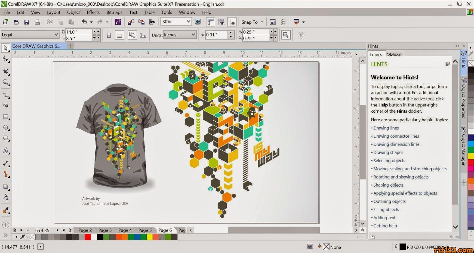 Antarmuka CorelDRAW Graphic Suite X7