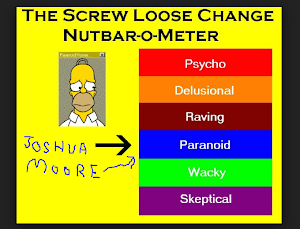 Here's a  nut meter to help figure out Joshua Moore aka Commander Paranoid.