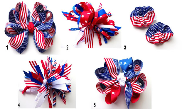 hair candy bows freedom bows