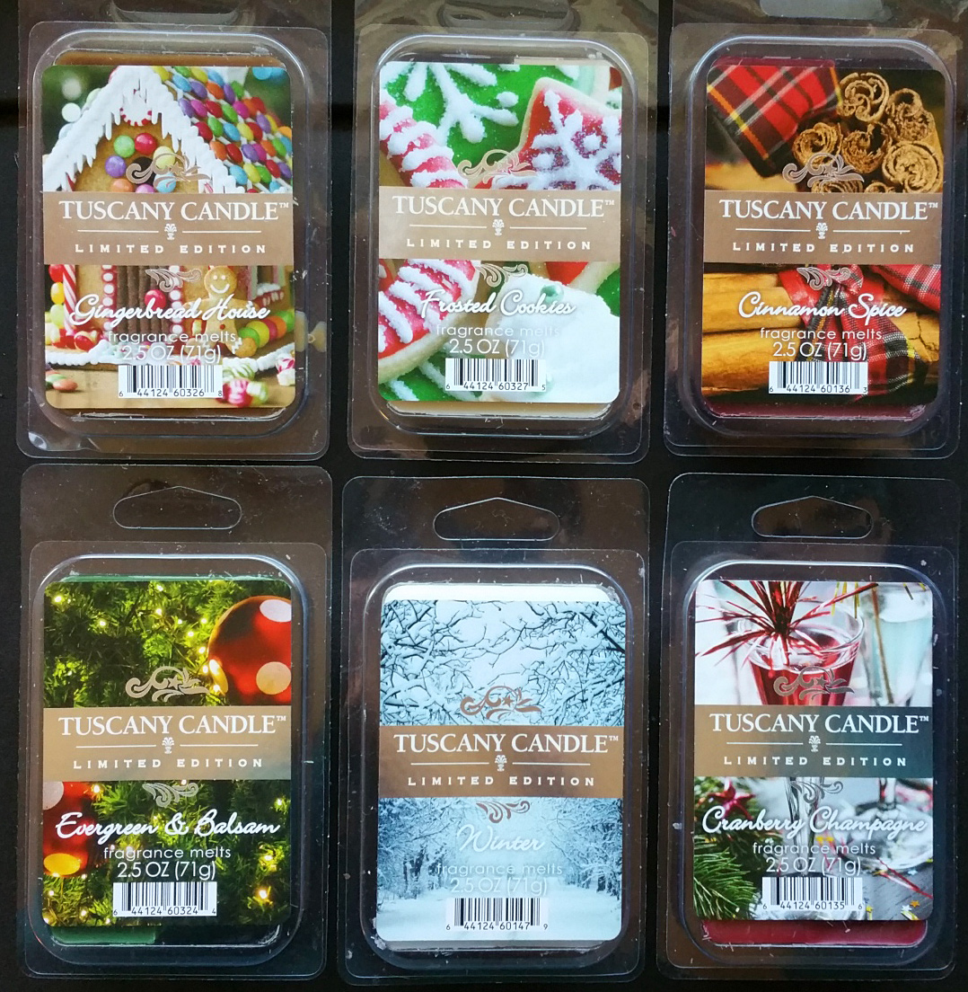 Scented wax melt reviews tuscany candle winter holiday for Different brands of candles