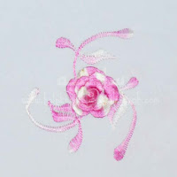 Telekung Vietnam pink muda bunga timbul