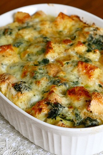 style+saveur | a guide to living chic: Recipe | Spinach Cheese Strata