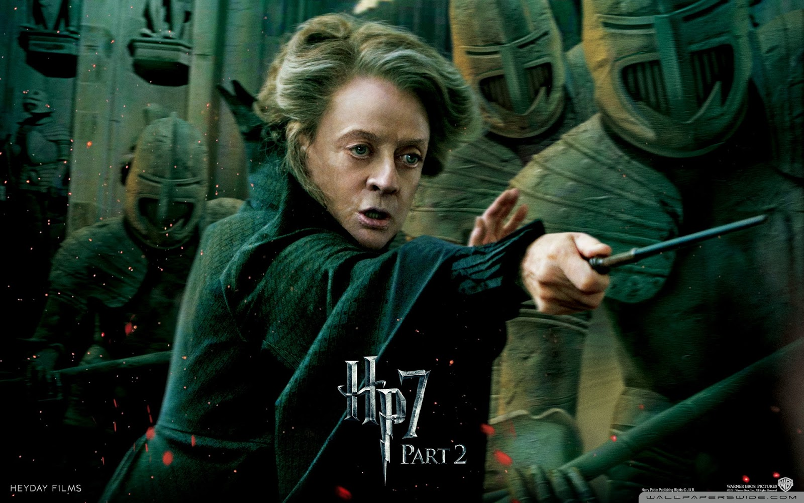 Harry Potter and the Deathly Hallows Part 2 Mcgonagall Wallpaper
