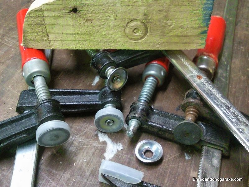 Horrible mark cheap clamps can leave in the workpieces. woodworking.enredandonogaraxe.com