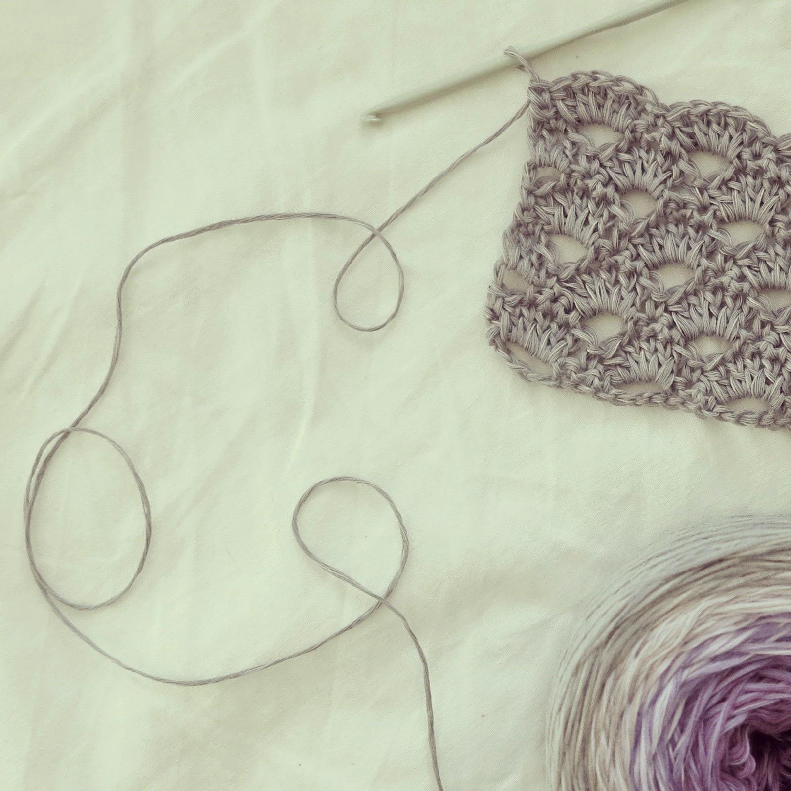 ByHaafner, crochet sample, lacy scallop stitch, Limited by Wolcafé