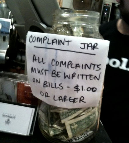 Complaint Jar - Seems Legit