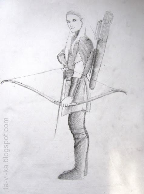 рисунок Леголас