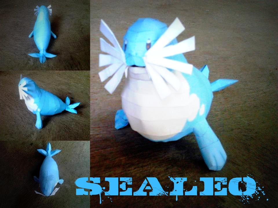 Pokemon Sealeo Papercraft