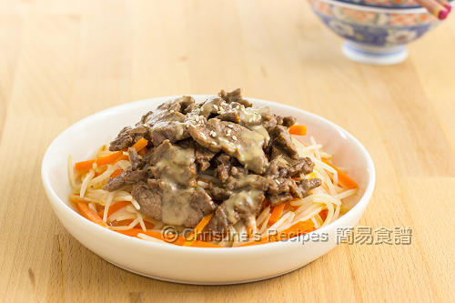 麻醬牛肉 Beef Bean Sprouts with Sesame Sauce02