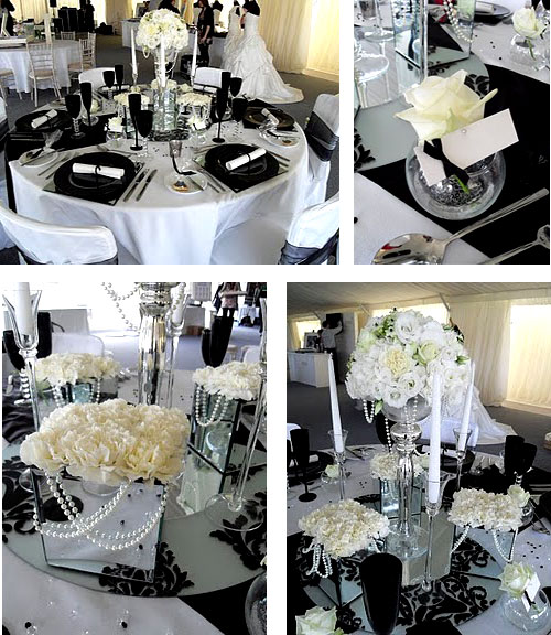 Royal wedding accessories black and white wedding decoration ideas