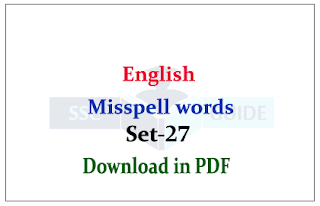 English – Most Misspell Word in PDF for SSC/FCI Exam
