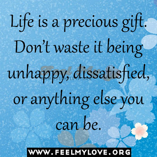 Life is a precious gift. Don't waste it