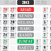 Download Template Kalender 2013 Versi Vertikal
