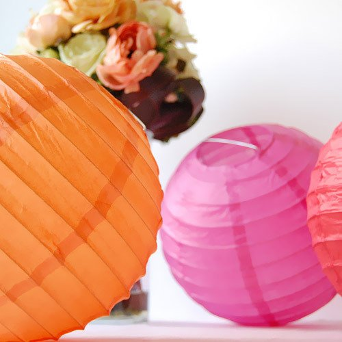 Beautiful Traditional and Modern Asian Round Paper Lantern  for Outdoor Birthday Party Celebration
