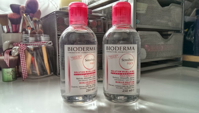 Two bottles of Bioderma sensibo H2Omicellar water