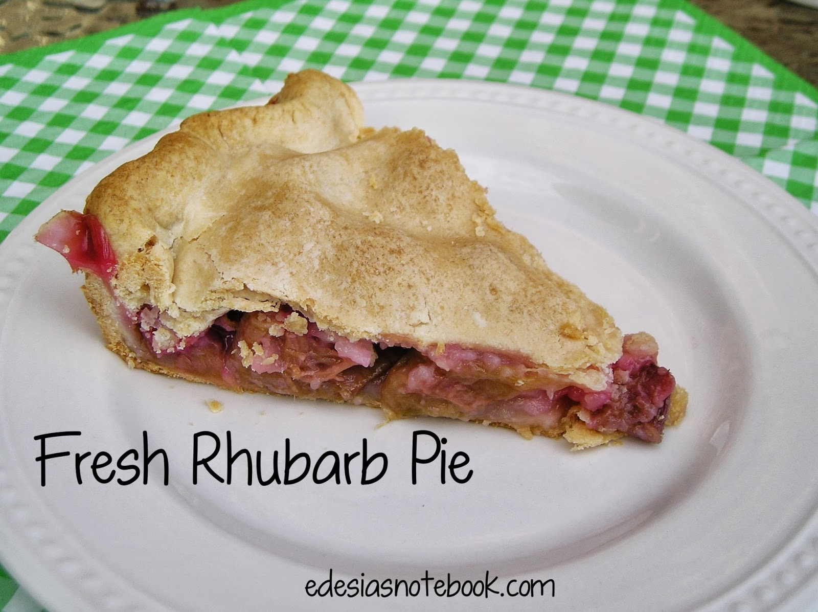 Fresh Rhubarb Pie ~ Edesia's Notebook