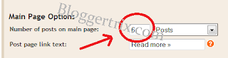 blogger home page, blogger post amount