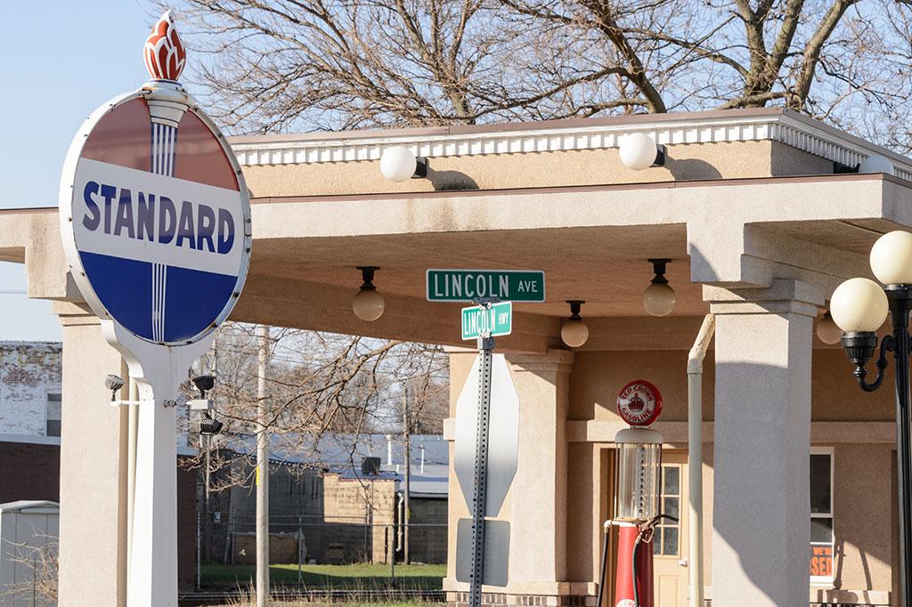 Standard Oil Station in Rochelle, IL