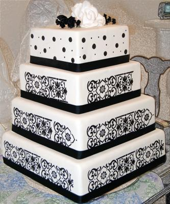 white and black wedding reception