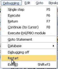 Ending a Debug Session in SAP ABAP