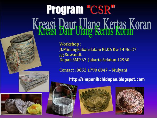 program csr (corporate social responsibility) kerajinan tangan kreasi kertas koran