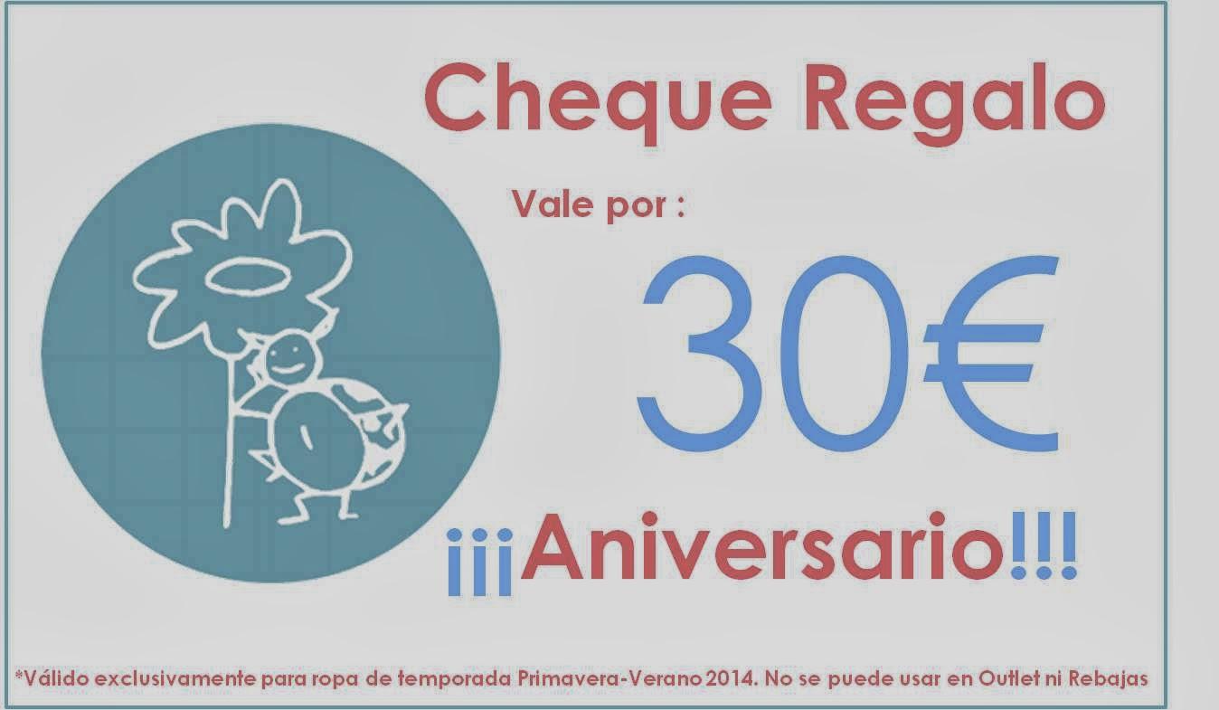 Cheque regalo Aniversario Blog Retamal moda infantil y bebe