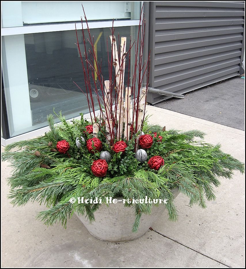 outdoor christmas container large planter